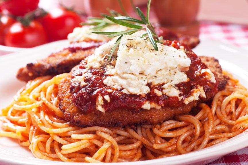 Eggplant Parmigiano at Cosentino Pizzeria